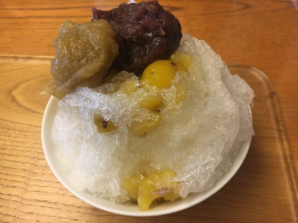 すや石川橋の栗かき氷