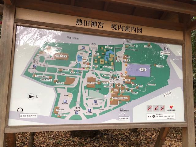 熱田神宮の地図