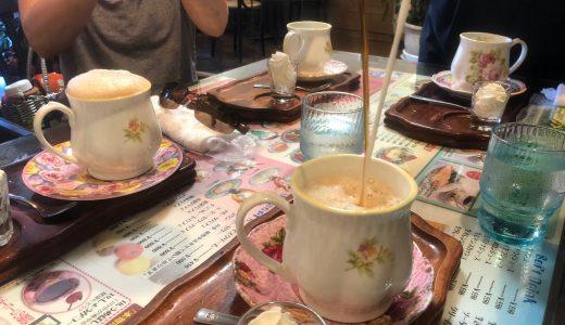 「喫茶店ツヅキ」の脚立で「天井落とし」。カフェオレのパフォーマンスが最高。名古屋中村区