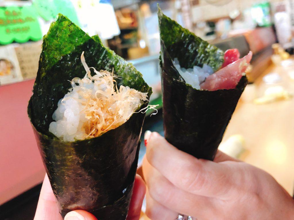 丸八寿司の面白手巻き寿司