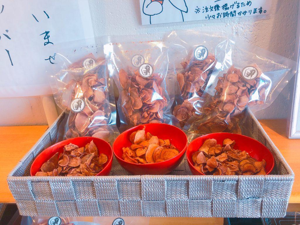 壺焼き芋専門店ポテポテの内観