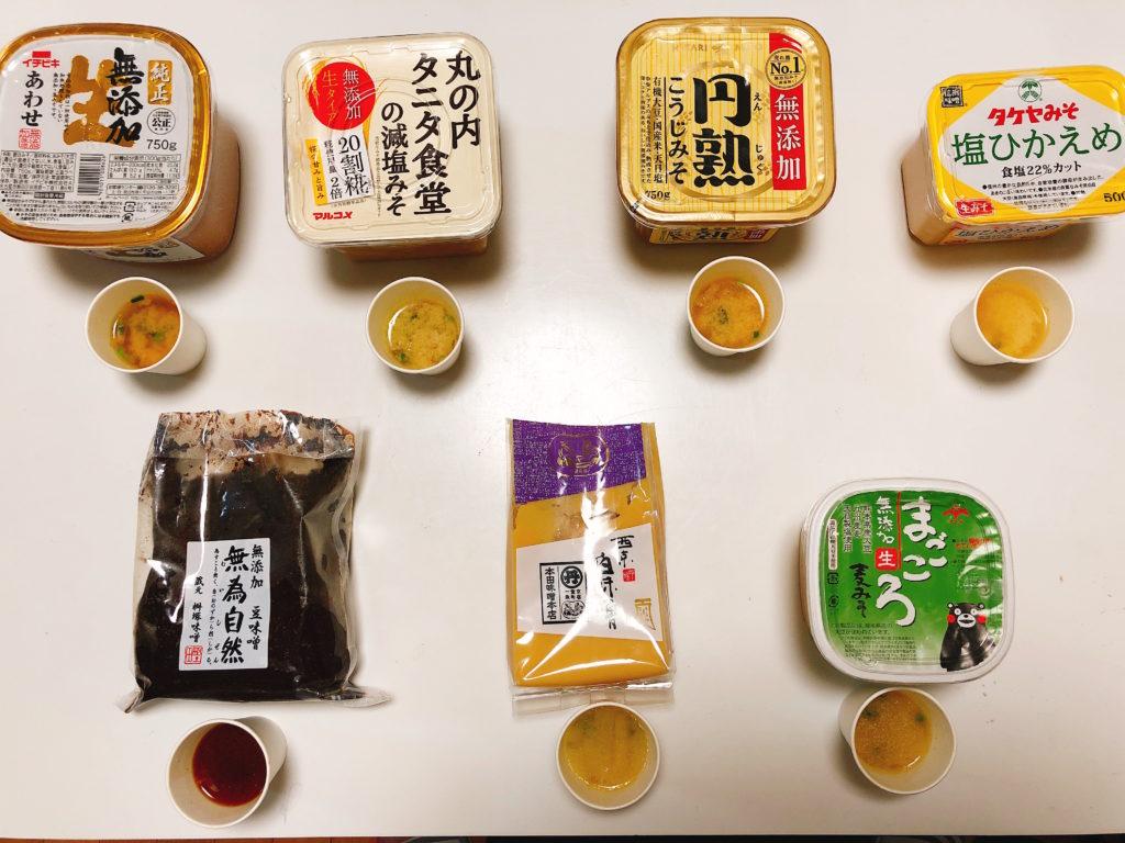 味噌食べ比べ