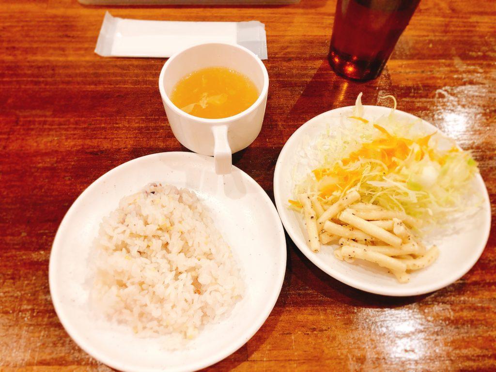 やっぱりステーキ 大須仁王門通店 スープ・ご飯・サラダ 食べ放題