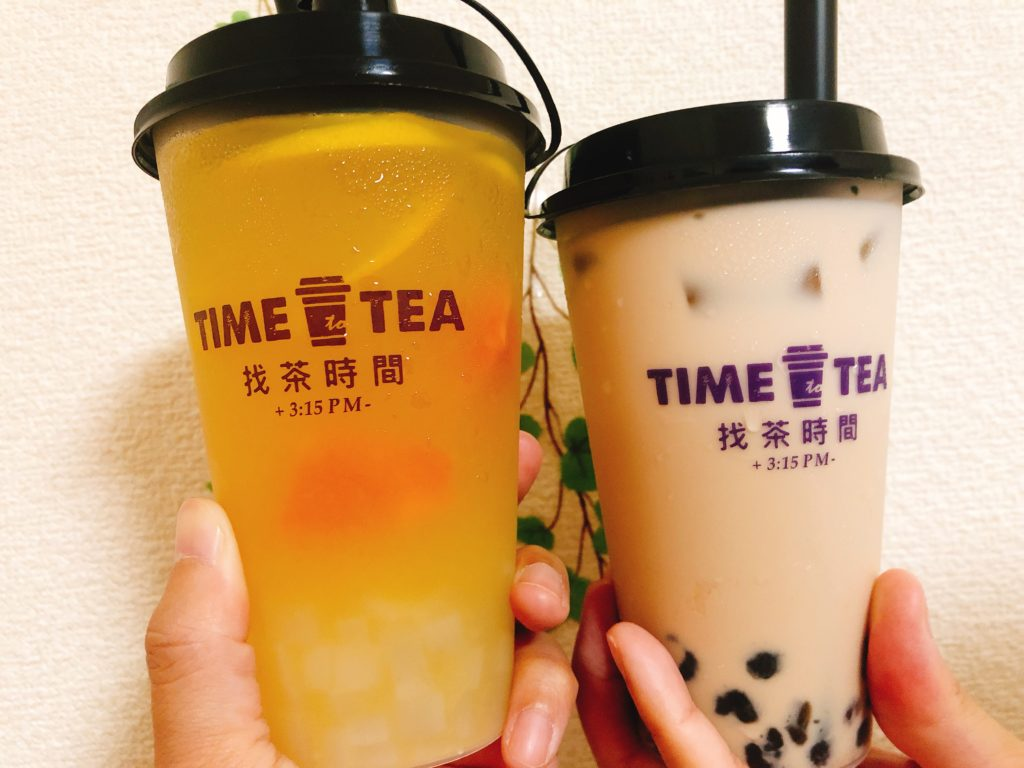 time to tea 3Cフルーツジャスミン茶 タピオカミルクティー