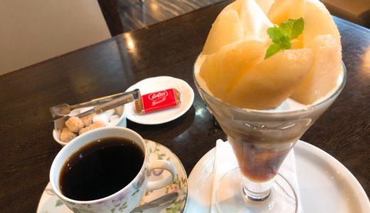 東海市「和田珈琲店季楽」の桃パフェが美味しい!