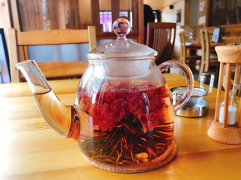 りんりん庵の工芸茶