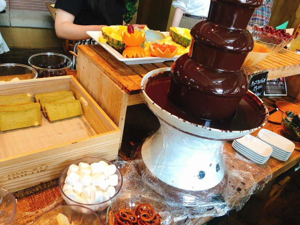 サニーオーチャード栄のチョコレートフォンデュ