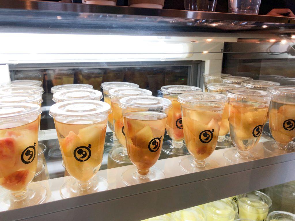 ダカフェのフルーツゼリー(もも)