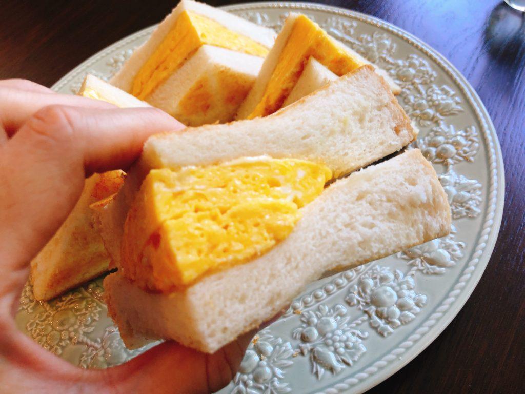 純喫茶ライオンのエッグトーストのアップ写真