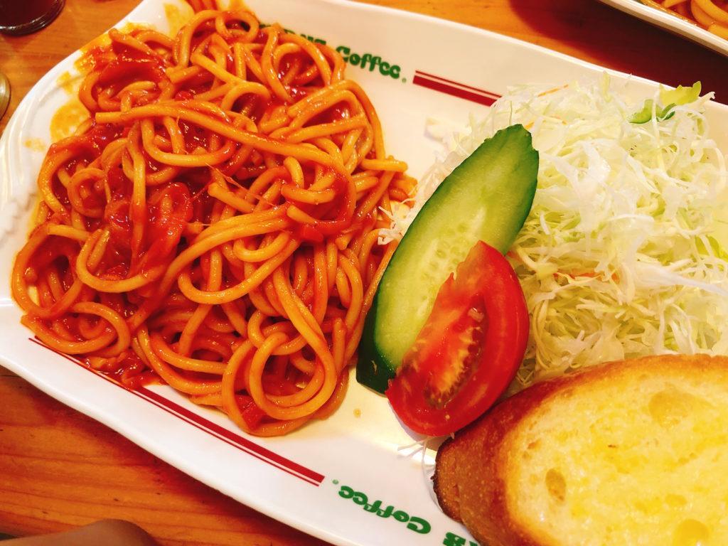 コメダのスパゲティ(パスタ)の喫茶店の王道ナポリタン