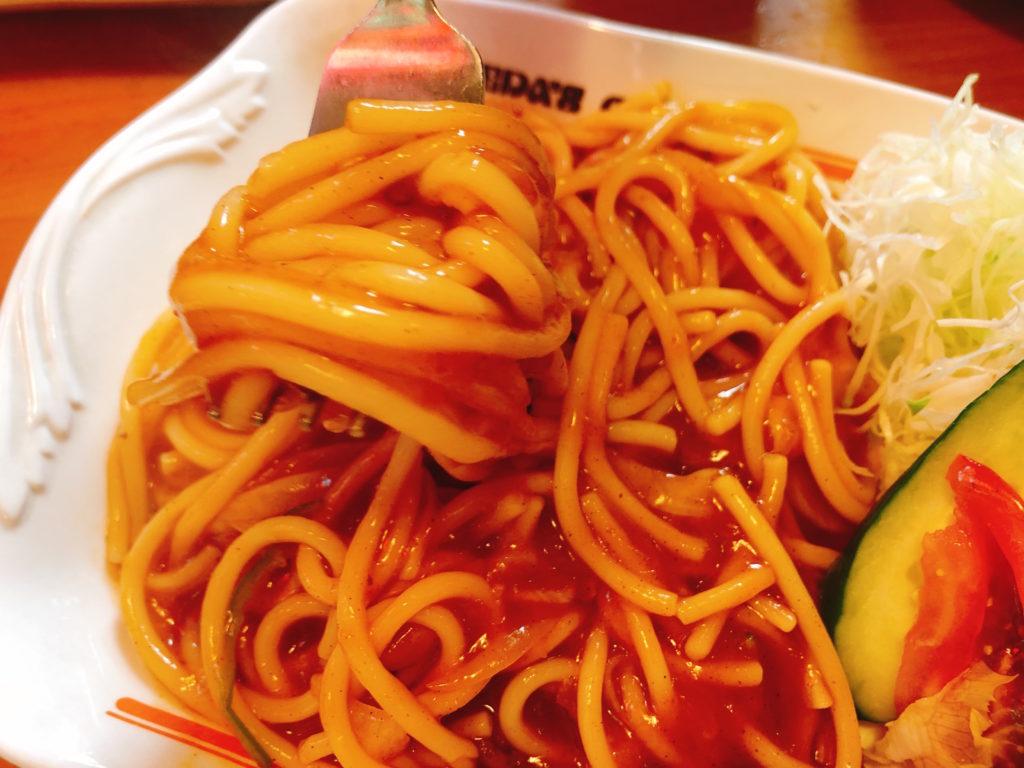 コメダのスパゲティ(パスタ)の名古屋名物あんかけスパのアップ写真