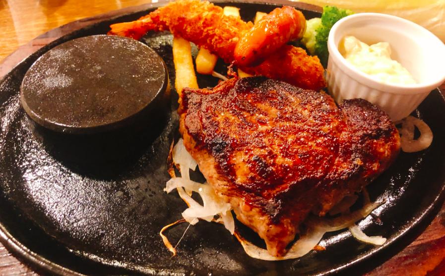 ステーキのあさくまのキッズステーキグリル(980円税別)
