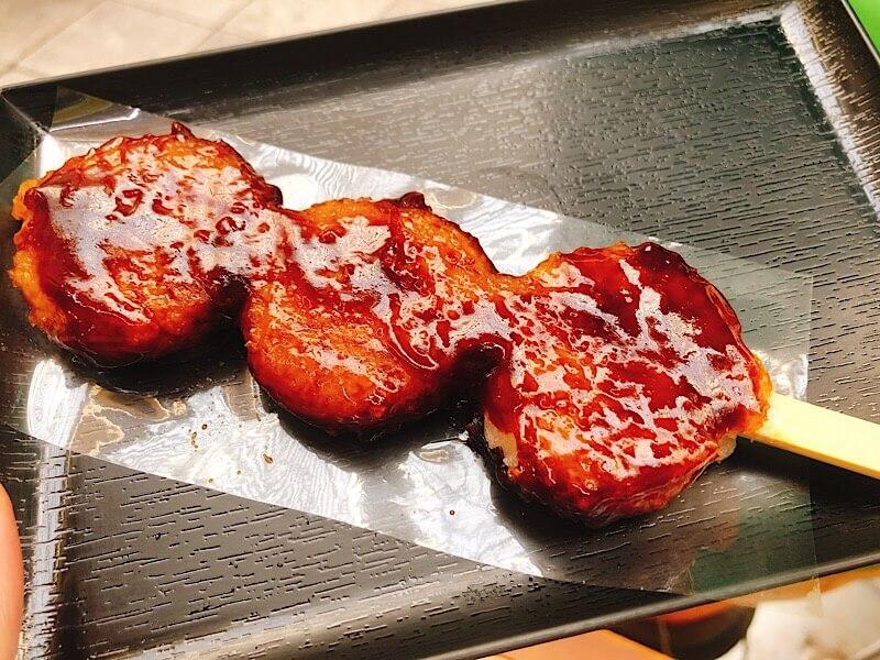 大須の嘉木園 甘香房の五平餅の写真