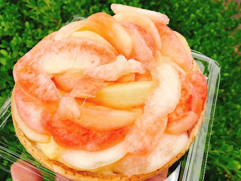 やまひこの桃タルト