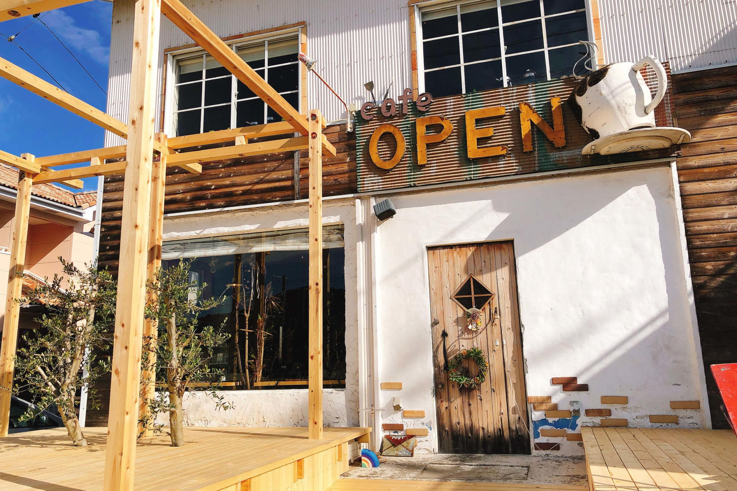 カフェオープンの外観