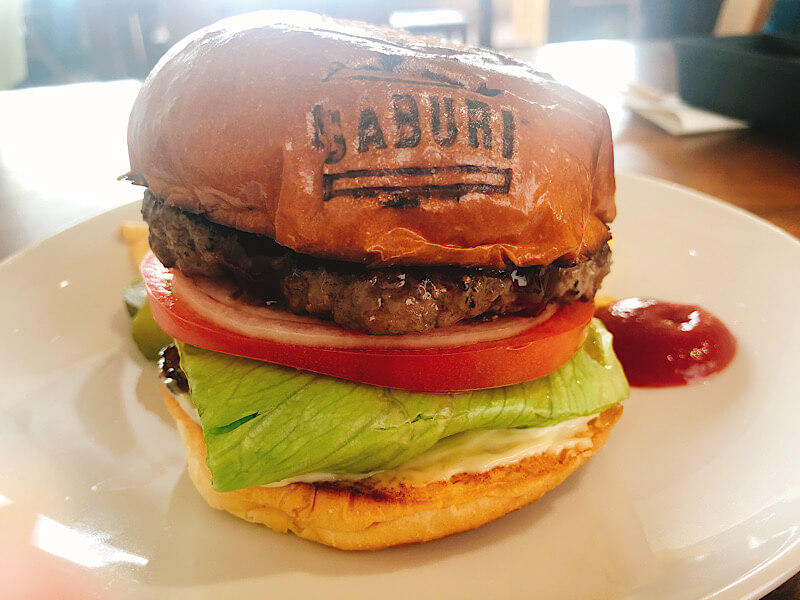 バーガーハウスガブリのハンバーガー