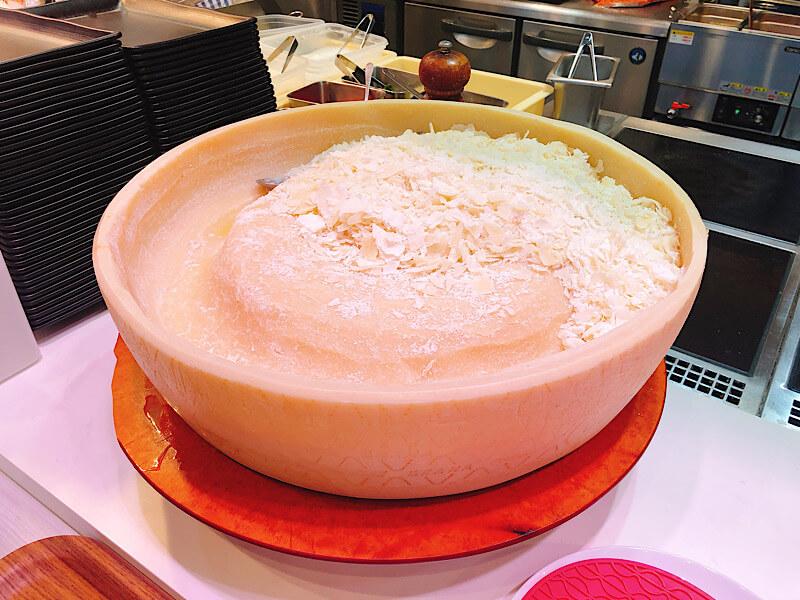 M'sパスタのチーズ
