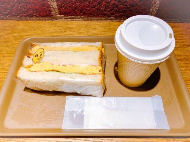 cascade(カスケード)のサンドイッチとコーヒー
