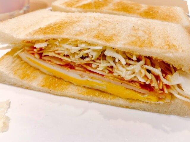 コンパル サンロード店のモーニングのエッグトースト