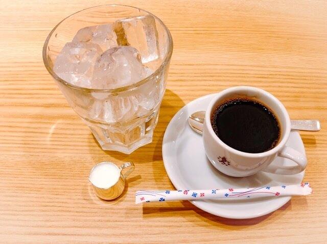 コンパル サンロード店のアイスコーヒーセット