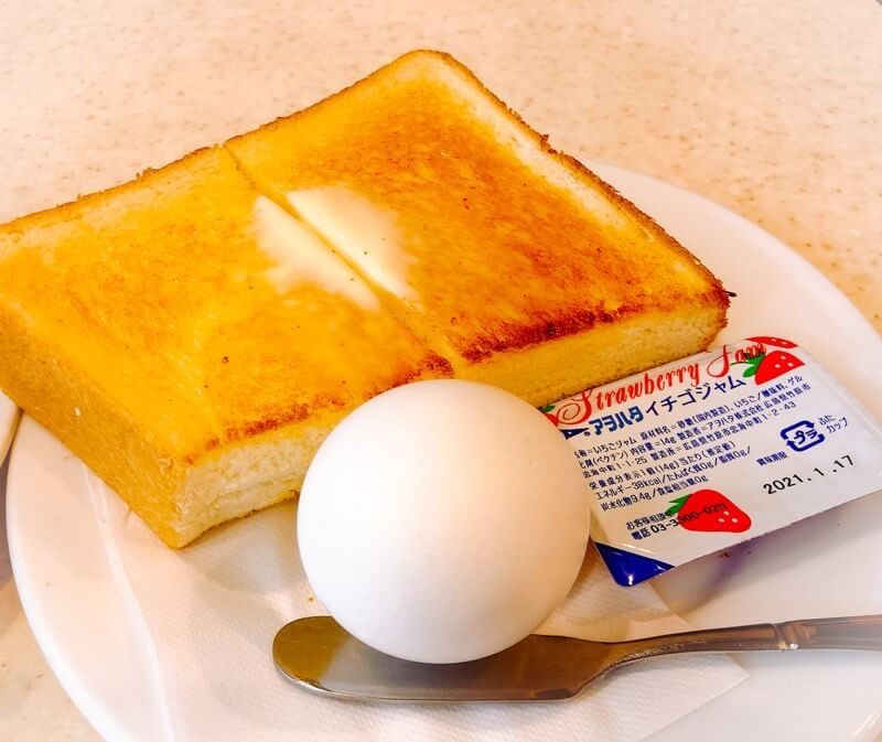 名古屋駅むらやまのモーニングのトースト