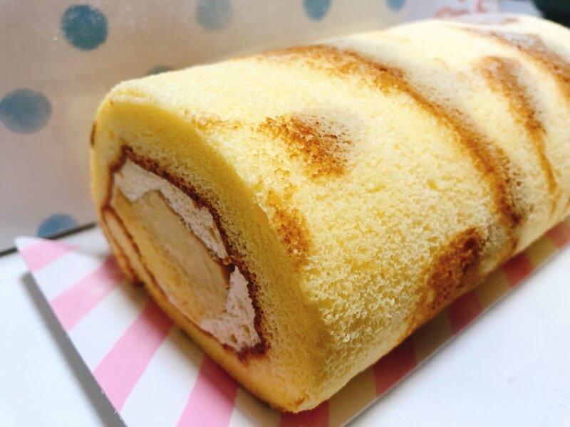 パステルのプリンロールケーキ