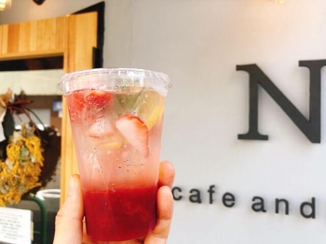cafe&Nのいちごソーダ