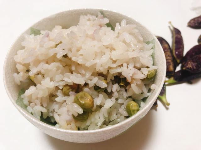 ツタンカーメン豆の豆ご飯