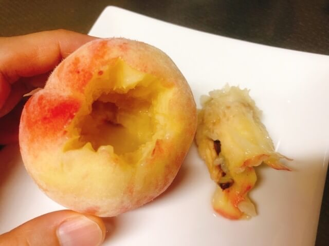 桃の種の取り方皮の剥き方