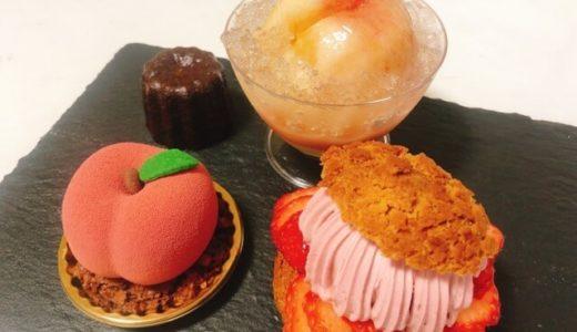 (中村区)スイーツギャラリーアマンダの丸ごと桃のケーキが美味しい!