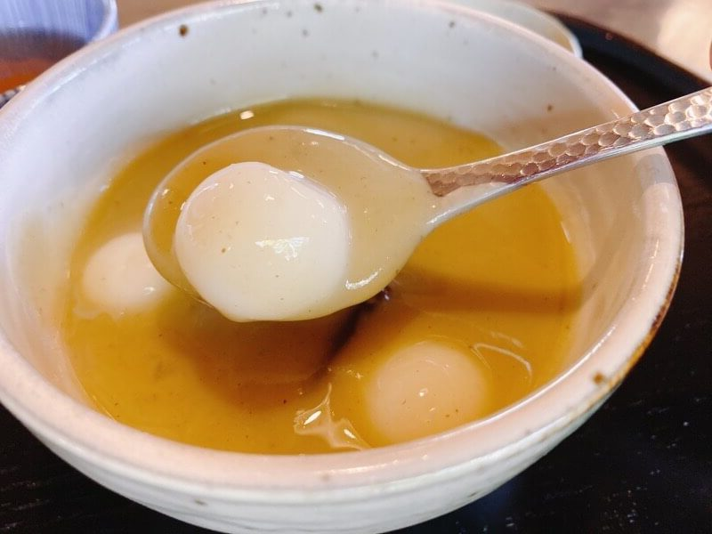 すや甘味処榧(かや)の栗白玉