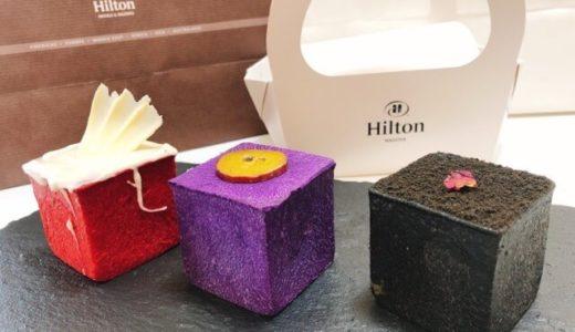 ヒルトンホテル『カフェ3-3 アーティサンスイーツ&ベーカリー』カラフルキューブパンが可愛い