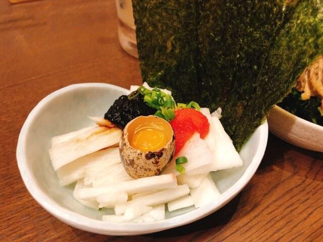 きばくもんの長芋と明太子の海苔ユッケ
