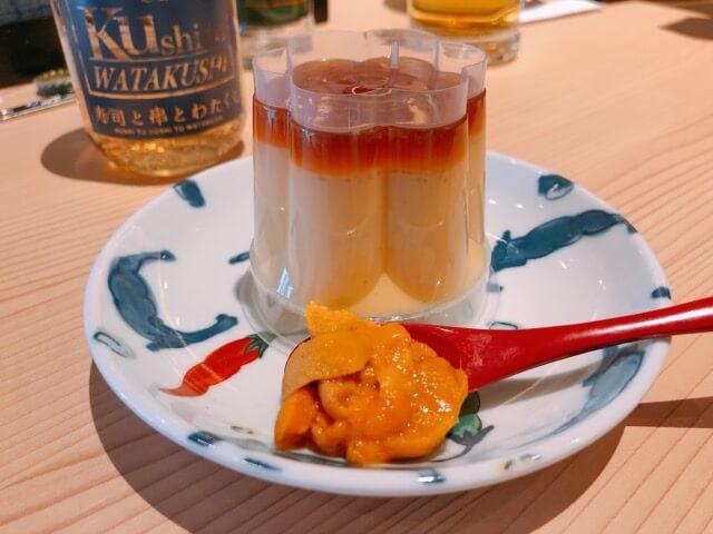 寿司と串とわたくし すし屋のプッチンプリン