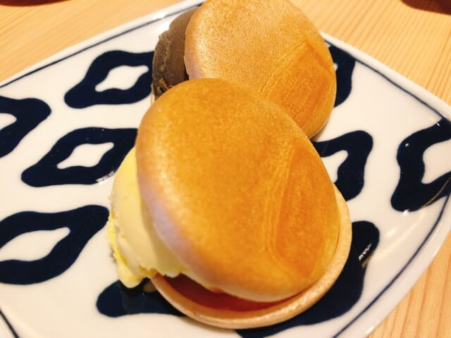 寿司と串とわたくし 最中アイス2種(ほうじ茶・焼き芋)