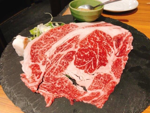 肉卸直送焼肉たいが錦店の焼きしゃぶ3.5秒ロース
