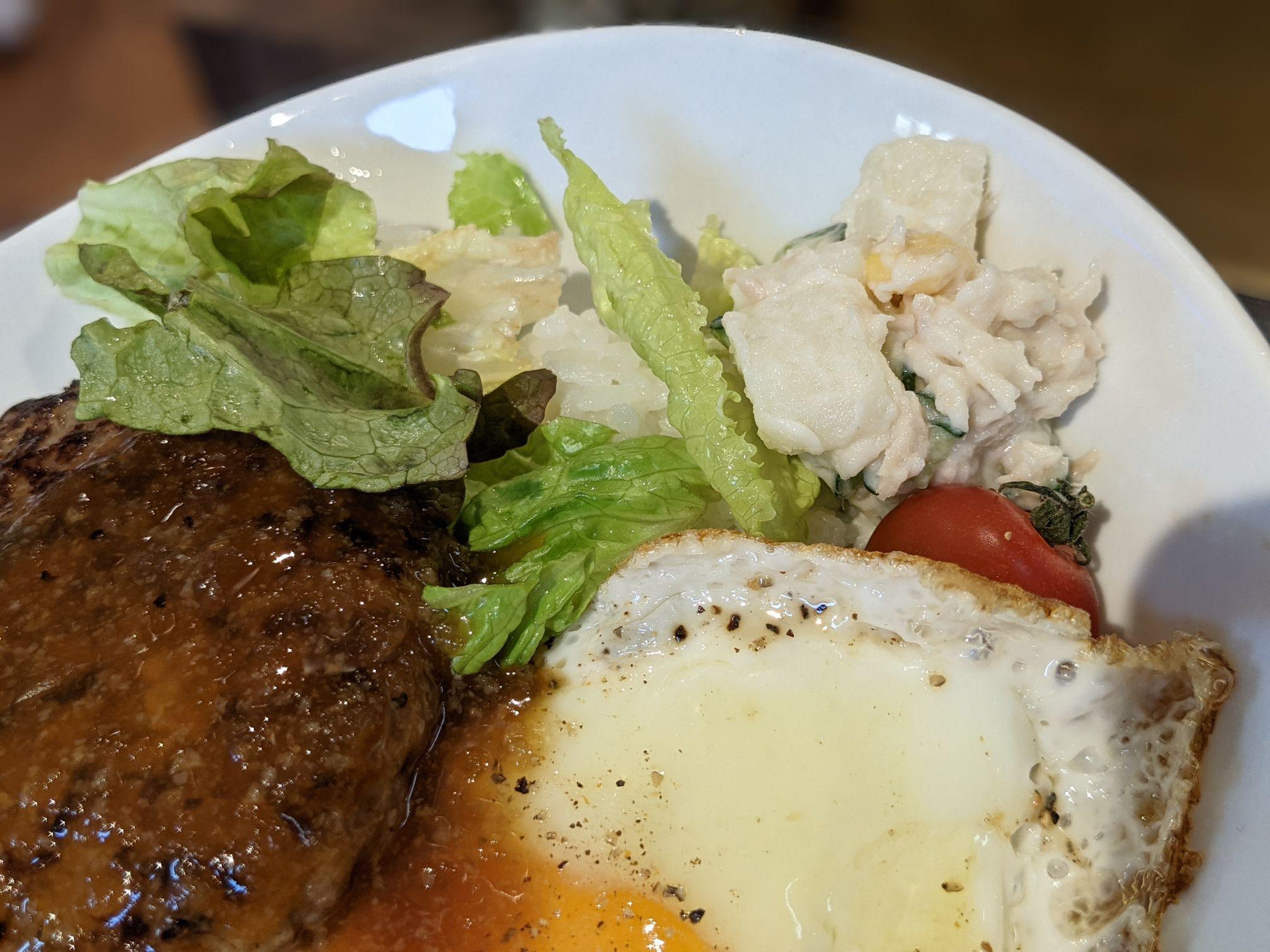 ステーキハウスメガインディアンズ小牧のハンバーグ丼