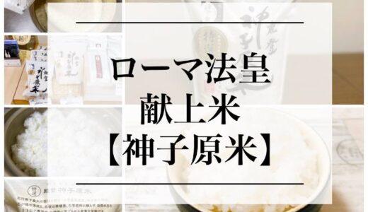 実食!コメ【神子原米(みこはらまい)】ローマ法王に献上されたお米!